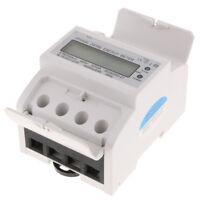 Plastic DIN Rail Power Meter 1 Phase Electronic Meter Kilowatt-hour Meter