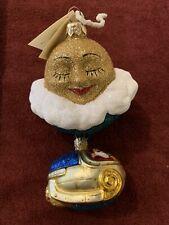 1999 Patricia Breen Ornament Santa's Underwater Sleigh Glittered Mint
