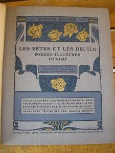 Edmond ROCHER : Les fêtes et les deuils poèmes illustrés 1913-1917