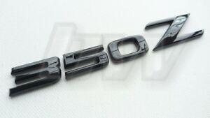 350Z GLOSS BLACK EAR BADGE LETTERING  CUSTOMISED LETTERS 350 Z - SELF ADHESIVE