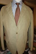 Jil Sander Light Brown Cotton Sport Coat Made Italy Size 44R Slim Fit