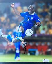Mario Balotelli (Italy National Team) Signed 8x10 Photo JSA P55541
