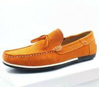 Bateau Mocassin Richelieu Chaussure Homme 41 42 43 44 45 - Orange Cuir Confort