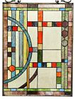 25  x 17 5  Mission Lunes Tiffany Style Stained Glass Window Panel