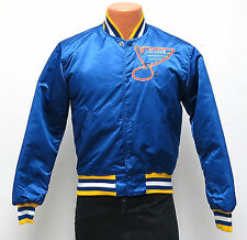 vtg ST LOUIS BLUES Starter Satin Jacket SMALL 80s/90s nhl blue throwback hockey
