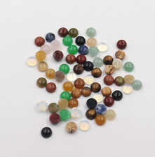 Wholesale 50pcs/lot 6mm assorted natural stone round CAB CABOCHON stones beads