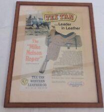 Vintage Advertising Western Tex Tan Saddle Country American