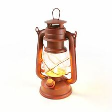 NEBO 6642 Old Red traditional look lantern with flickering flame