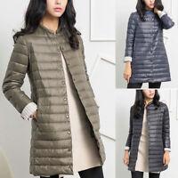 Women's Lightweight Long Packable Down Hooded Jacket Puffer Warm Parka Coat
