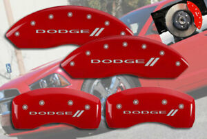 """2001-2006 """"Dodge """" Stratus Front + Rear Red MGP Brake Disc Caliper Covers 4pc"""