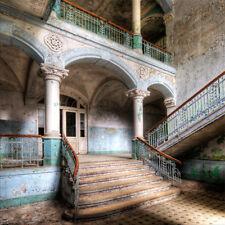 artissimo Glasbild 30x30cm Bild aus Glas Lost Places Urbex Ruine Beelitz vintage