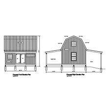 20'x16' -GABLE STRUCTURE SHED BARN GARAGE PRINT BLUEPRINT PLAN #17-1620GMB-1