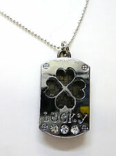 lucky pendant 4 leaf clover necklace charm
