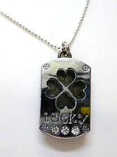 lucky pendant 4 leaf clover necklace charm