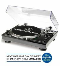 Audio-Technica AT-LP120-USB Professional DJ USB Record Player Turntable Black