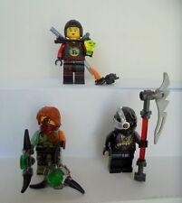 3x PERSONAGGI LEGO NINJAGO Nya nindriod Ronin armi NUOVO NINJA PERSONAGGIO arma
