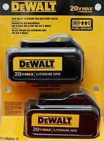 DEWALT DCB200-2 Two DCB200 20V MAX Lithium Ion Cordless Tool Battery 2-Pack NEW