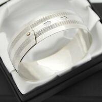 Vintage Solid 925 Sterling Silver Adjustable Belt Bangle Bracelet