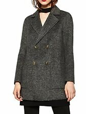 Zara woman blogueurs doublant M 38 uni GRIS HAND MADE avec poches