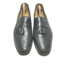 Nordstrom Black Leather Tassel Moccasin Loafers Soft Calfskin Size 11.5 M Italy
