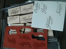 Stampin Up - Wood - Rubber Stamps Sincere Salutations