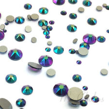 144 Mixed Sizes 2mm-6mm Swarovski Flatback nail art Crystal Scarabaeus Green