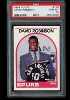 1989-90 NBA Hoops David Robinson Rookie #138 PSA 10 Gem Mint RC Spurs HOF
