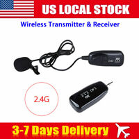 2.4G Lavalier Style Wireless Microphone Voice Amplifier Battery Mic For Teaching