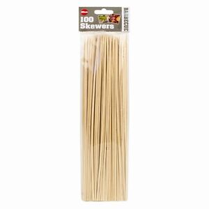 BBQ Bamboo Skewers for Kebabs, Fruits,Chocolate Wooden Sticks 25CM Long 100 Pack