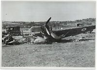 Abgeschossenes Feindflugzeug. Orig-Pressephoto, von 1940