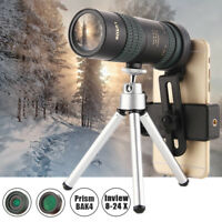 1000M 8-24X HD Monocular Telescope BAK4 Prism Waterproof w/ Tripod Camera Hiking