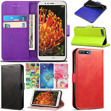 For Huawei Honor 7A - Leather Card Holder Wallet Book Stand Case Flip Cover