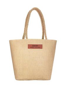 Marc Jacobs Hessian / Straw Daisy Tote Bag