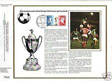 0410+ FDC FEUILLET CEF1977 60° ANNIV. COUPE DE FRANCE