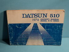 78 1978 Datsun 510 A10 Series owners manual