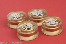 Knobs Dorados Speed Skull Gold 6mm. Hole Boutons Knöpfe Potenciometro Calavera