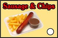 Sausage & Chips Sticker For Catering Trailers
