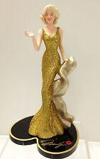 Gilded Gift Marilyn Monroe Figurine  Bradford Exchange Marilyn Monroe