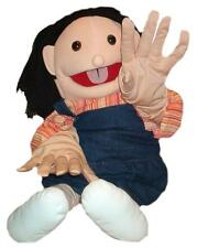 """Puppet giant deaf signing girl 26"""" Ventriloquist,Educational.Moving mouth&hands"""