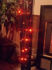 HALLOWEEN LED LIGHTED SPOOKY BLACK TREE BRANCHES TWIGS RED LIGHTS GEMMY PROP 3FT