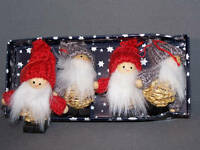 Scandinavian Swedish Finnish Danish Christmas Ornaments 4 Straw Santas #801