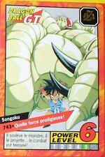 CARTE DRAGON BALL GT N-¦ 743 SONGOKU  POWER LEVEL 6  VERSION FRANCAISE