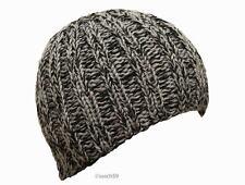 Mütze Strickmütze Beanie Wollmütze Cap Herren schwarz grau Wolle Handarbeit H14