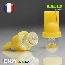 2 AMPOULES LED T8 CONCAVE CULOT W5W W3W 194 501 AMBER XENON 150° 12V VEILLEUSE