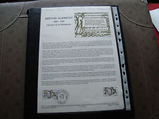 FRANCE - document officiel 1er jour 5/11/1983 (berthie albrecht) french