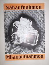 ORIGINAL EXAKTA VAREX IHAGEE DRESDEN 1956 Prospekt Kamera  MIKROAUFNAHMEN