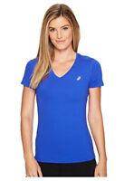 Asics Women's ASX Dry Short Sleeve Shirt New Blue Size L