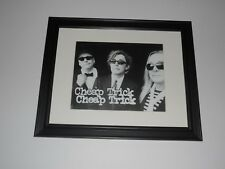 "Framed Cheap Trick 2016 Tour Promo Print Robin Zander, Rick Nielsen, Tom 14""x17"""