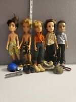 Vintage Mga Bratz Boyz Lot Of 5 Dolls And Accessories