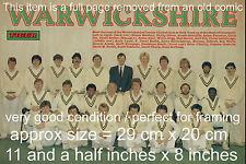Warwickshire Cricket Memorabilia Photographs
